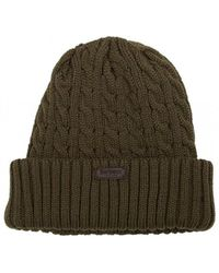 d95781fcc77 Lyst - Barbour Lambswool Cable Knit Hat in Natural for Men