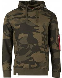 Alpha Industries - Printed Tape Camo Pullover Hoodie - Lyst