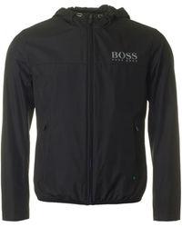 BOSS Athleisure - Jeltech Reflective Logo Hooded Jacket - Lyst