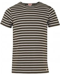 Armor Lux - Striped Short Sleeved Crew Neck - Lyst