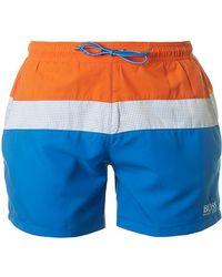 BOSS Black - Zebrafish Swim Shorts - Lyst
