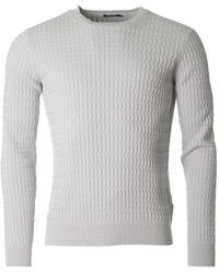 J.Lindeberg - Karl Cable Knit Crew Neck Knit - Lyst