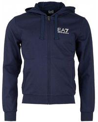 EA7 - Train Core Id Zip Through Hooded Sweat - Lyst