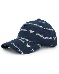 3dd2632c1c3ec Armani Jeans - All Over Script Logo Cap - Lyst