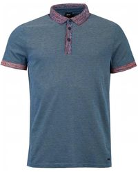 13dc4131f BOSS Big And Tall Blue Short Sleeve Piqué Polo Shirt in Blue for Men ...