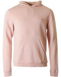 Farah - Clarkenwell Garment Dyed Hooded Sweat - Lyst