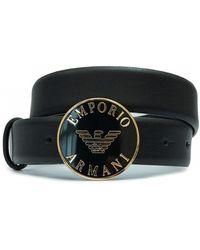 Emporio Armani - Round Logo Belt - Lyst
