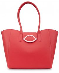 Lulu Guinness - Cupids Bow Sofia Lips Leather Tote - Lyst