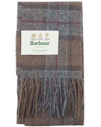 Barbour - Tartan Lambswool Scarf - Lyst