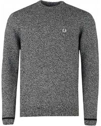Fred Perry - Tipped Crew Neck Knit - Lyst