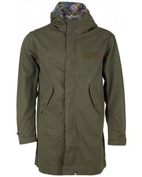 Pretty Green - Cassidy Cotton Zip Up Hooded Parka - Lyst