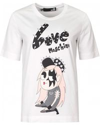 Love Moschino - Graphic Girl Print Logo - Lyst