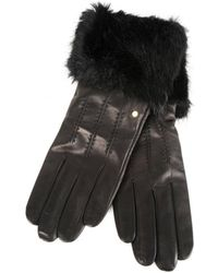 Ted Baker - Fur Trim Leather Gloves - Lyst