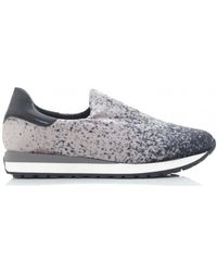 Moda In Pelle - Splash Velvet Slip On Trainers - Lyst
