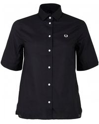 Fred Perry - Short Sleeved Boyfriend Shirt - Lyst