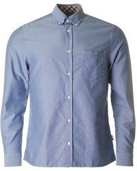 Aquascutum - Bevan Long Sleeved Oxford Shirt - Lyst