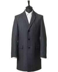 HUGO - Migor 2 Wool And Cashmere Overcoat - Lyst
