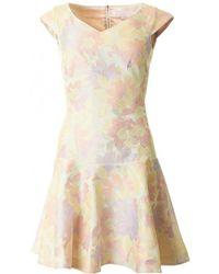 Ted Baker - Floral Flippy Jaquard Dress - Lyst