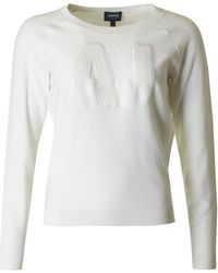Armani - Sparkle Logo Knitted Sweater - Lyst