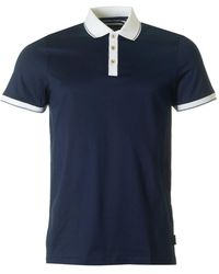 Ted Baker - Staffy Contrast Collar Polo - Lyst
