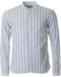 Oliver Spencer - Elmore Striped Grandad Shirt - Lyst