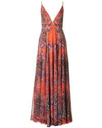 Forever Unique - Print Maxi Dress - Lyst