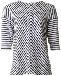Joules - Zip Back Striped Sweat - Lyst
