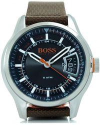 BOSS Orange - Hong Kong Brown Strap Dial Watch - Lyst