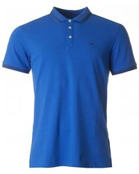 Armani - Slim Fit Tipped Logo Polo - Lyst