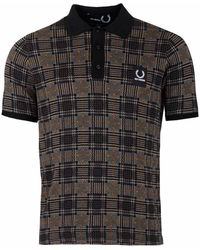 Fred Perry - Jacquard Knit Polo - Lyst