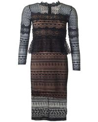 French Connection - Petra Lace Long Sleeved Dress - Lyst