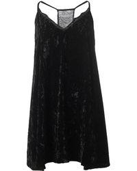 French Connection - Velvet Lace Slip Dress - Lyst