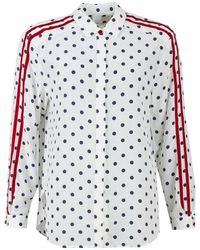 002f46a01156 Equipment Spotty Shirt in White - Lyst