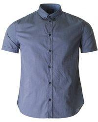 Armani Jeans - Short Sleeved Regular Fit Pattern Shirt - Lyst