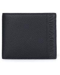 Armani Jeans - Script Bilfold Wallet - Lyst