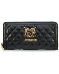 Moschino - Quilted Zip Around Purse - Lyst