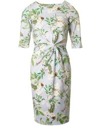 BOURNE - Beatrice 3/4 Sleeve Garden Print Dress - Lyst
