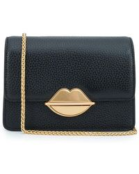 Lulu Guinness Lip Push Lock Polly Chain Crossbody Bag
