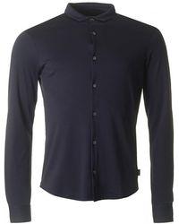 Armani - Slim Fit Button Through Shirt - Lyst