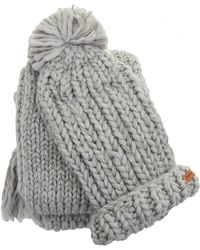 Barbour - Chunky Knitted Hat And Scarf Set - Lyst
