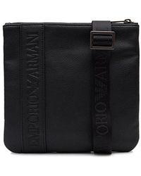 Armani Jeans - Grain Leather Stash Bag - Lyst