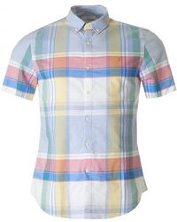 Farah - Croxted Check Short Sleeved Shirt - Lyst