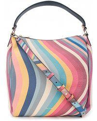 Paul Smith - Swirl Leather Hobo Bag - Lyst