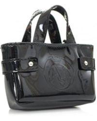 Armani Jeans - Patent Bag Keyring - Lyst