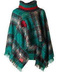 Vivienne Westwood - Wool Hooded Poncho - Lyst