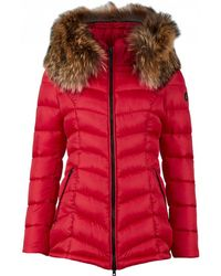 FROCCELLA - Mid Length Fur Trim Coat - Lyst