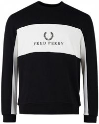 Fred Perry - Panel Piped Sweat - Lyst
