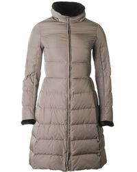 Armani - Long Fitted Fur Collar Coat - Lyst