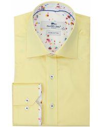 Claudio Lugli | Patterned Insert Long Sleeved Shirt | Lyst