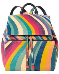 Paul Smith - Leather Swirl Back Pack - Lyst